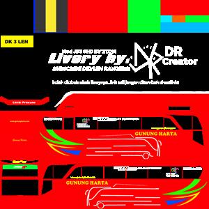 livery gunung harta merah mod jb3 shd by ztom
