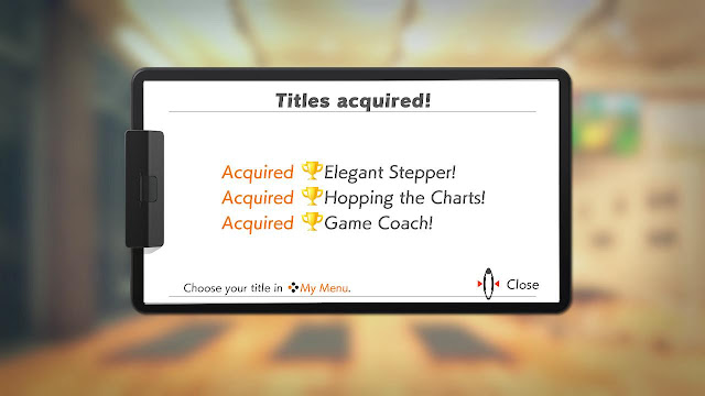 Ring Fit Adventure Titles acquired! achievements minigame ranks