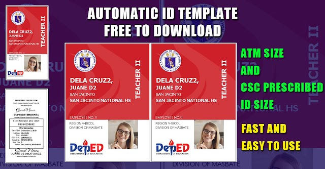 """AUTOMATIC ID """"ATM SIZE"""" with """"CSC PRESCRIBED ID SIZE""""   FULL VERSION"""