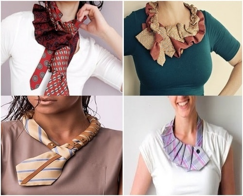 Handmade up cycle fashionable necktie