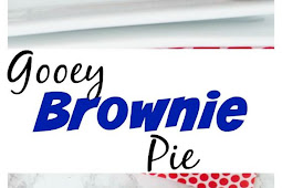 GOOEY BROWNIE PIE