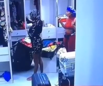 #BBNaija: Mercy Gift Diane A New Dress, See Her Reaction