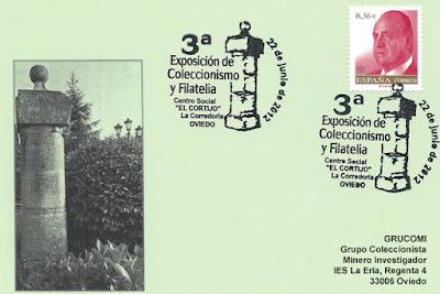 matasellos, Mojón, Media Legua, La Corredoria, tarjeta