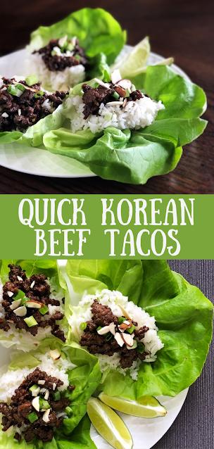 Quick Korean Beef Tacos