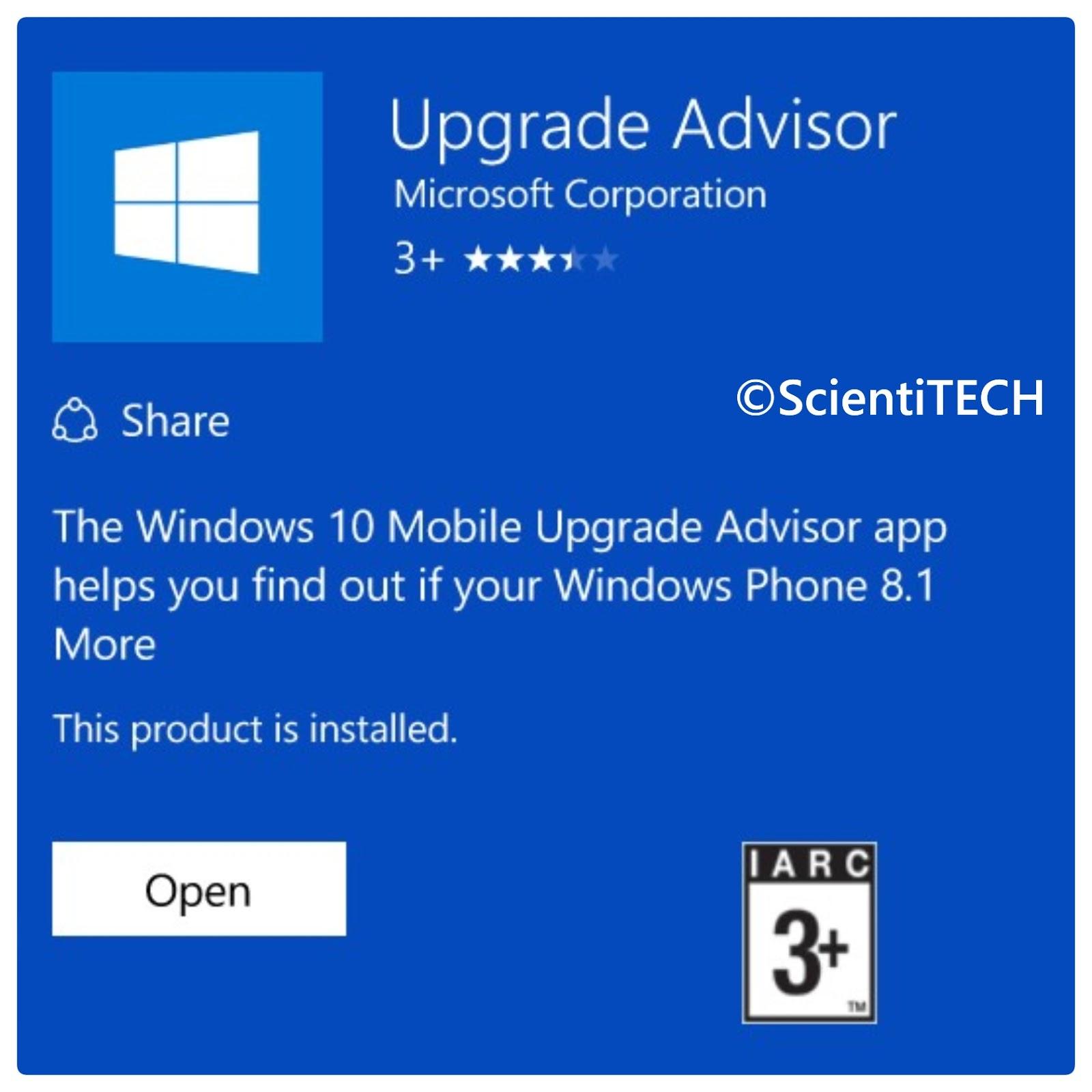 upgrade advisor download
