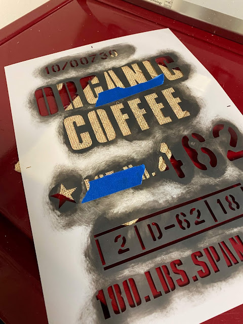 Photo of organic coffee stencil
