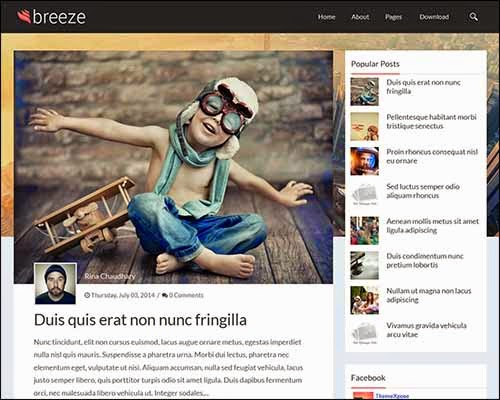 Breeze Responsive Free Personal Blogger Template