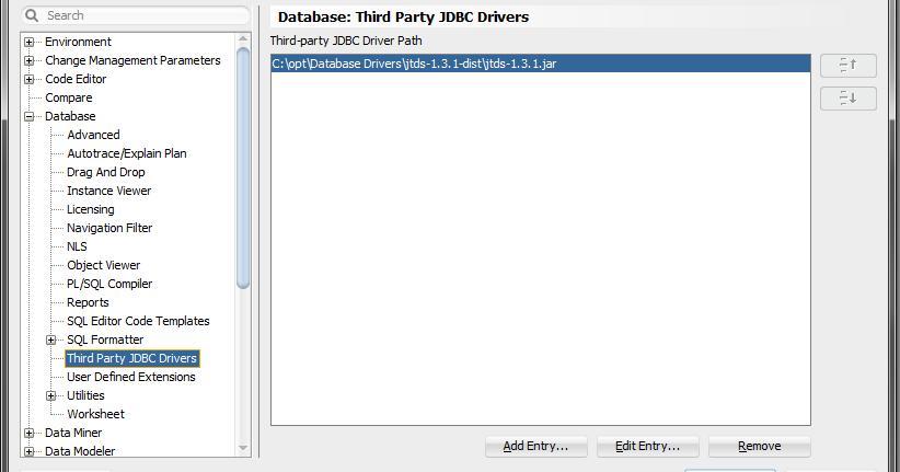 Oracle SQL Developer supports SQL Server via jTDS driver
