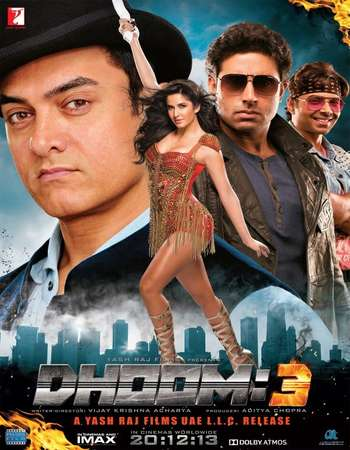 Poster Of Dhoom 3 2013 Hindi 700MB  720p  HEVC Watch Online Free Download worldfree4uk.com