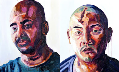 Self-portrait and portrait of Andrew Chan by Myuran Sukumaran, Nusakambangan Island, April 2015