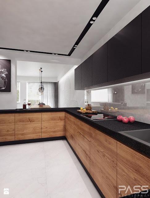 Desain dapur mungil terbuka