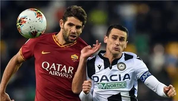 نتيجة مباراة روما واودينيزي في الدوريا الايطالي