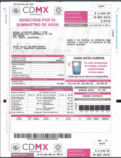 Cdmx Recibo De Pago Recibo De Nominas Cdmx