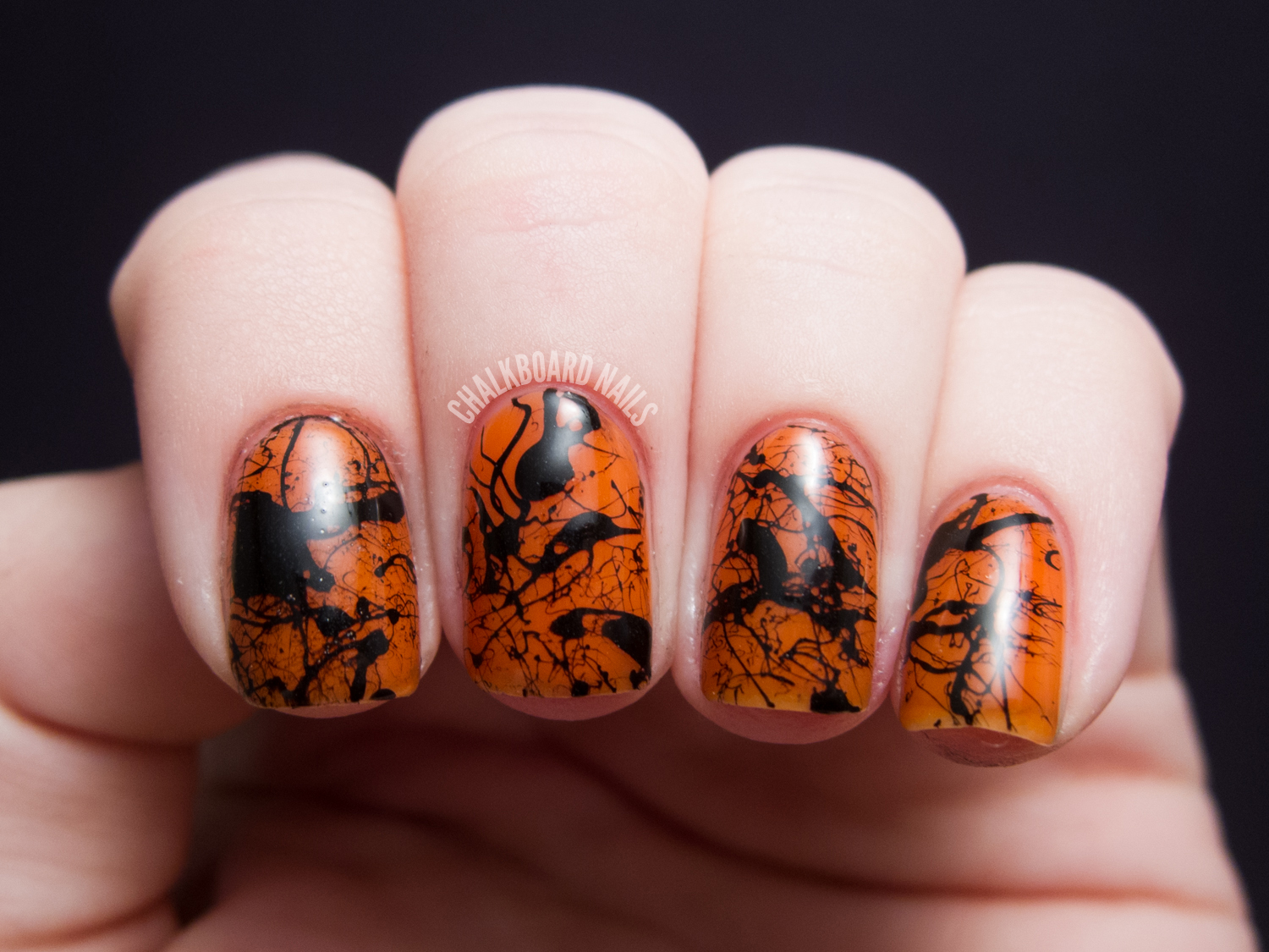 Spooky Splatter Nails (+ Tutorial) | Chalkboard Nails ...