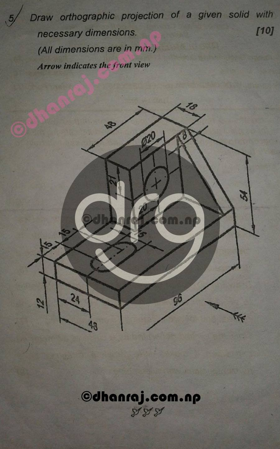 Engineering-Drawing-I-Question-Paper-2073-CTEVT-Diploma-1st-Year-1st-Part