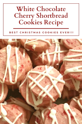 White Chocolate Cherry Shortbread Cookies Recipe