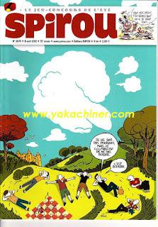 Le jeu-concours de l'été, Spirou 3878, 2012