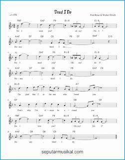 chord 'deed i do lagu jazz standar
