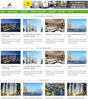 Giao diện Web bất động sản Nhà, Chung cư, Dự án - Theme Blogspot Bất động sản - Blogspotdep.com