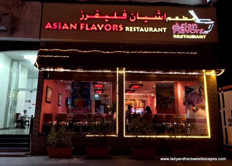 Asian Flavors restaurant in Al Qusais