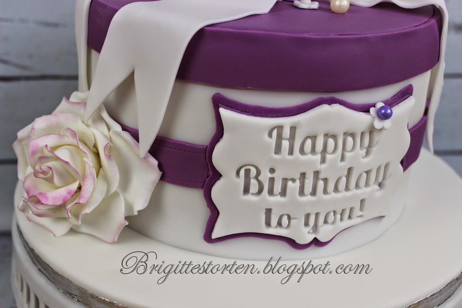 Torte Zum 60 Geburtstag In Purple Und Weiss Brigittes Tortendesign