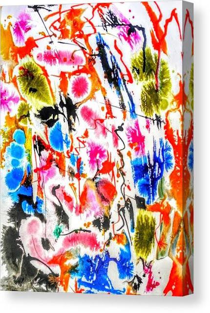 Abstract Botanical Garden Canvas Print, Miabo Enyadike