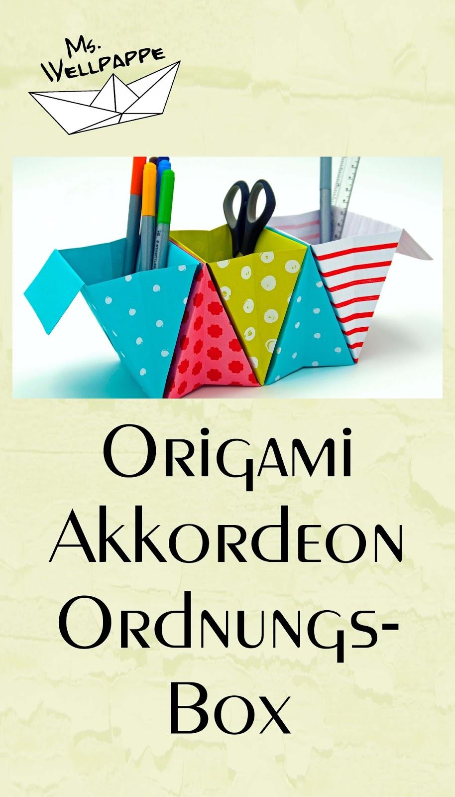 basteln und mehr origami box falten ordnungsbox. Black Bedroom Furniture Sets. Home Design Ideas