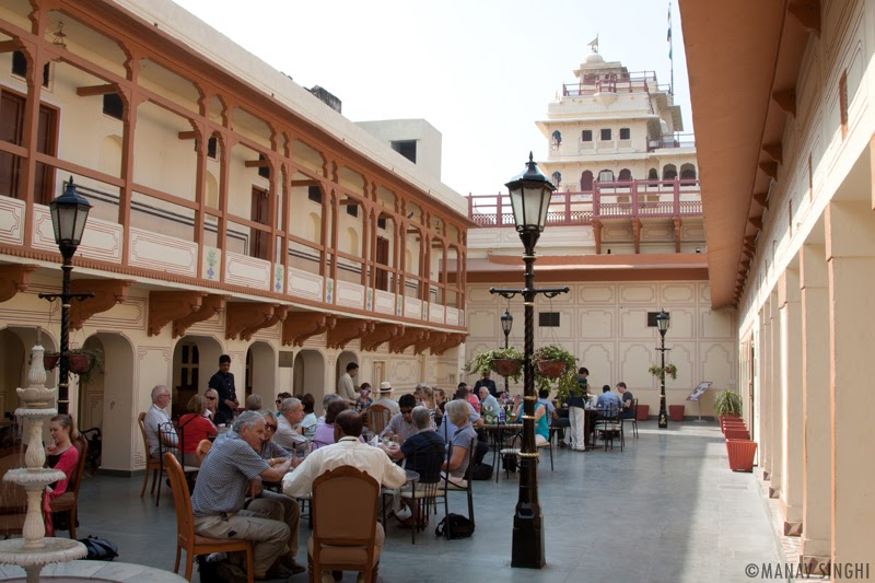 The Palace Café at The City Palace, Jaipur.