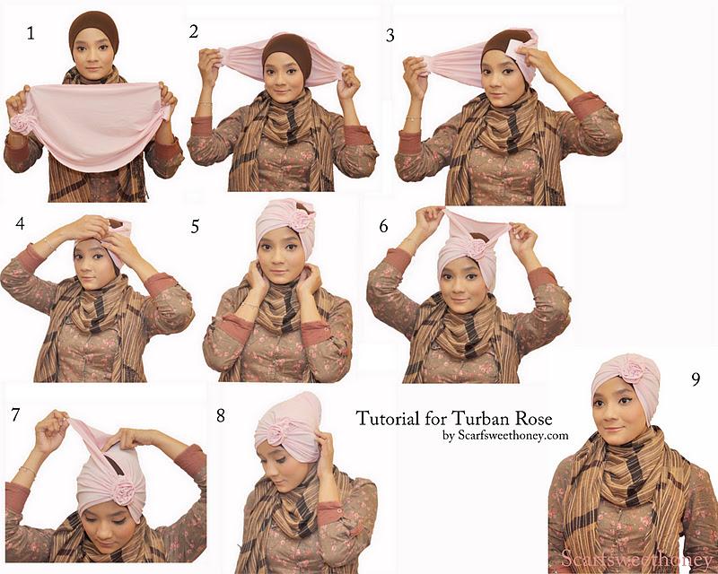 Hijab Tutorial Segiempat Paris Simple Style Hijab Wanita
