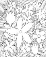 דפי צביעה למבוגרים- פרחים