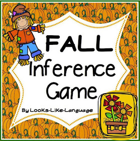 Fall Inference Picture Vocabulary Bingo Game by Looks-Like-Language