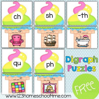 Digraph activity to help kid practice beginning digraphs and ending digraphs in grade 1 and grade 2