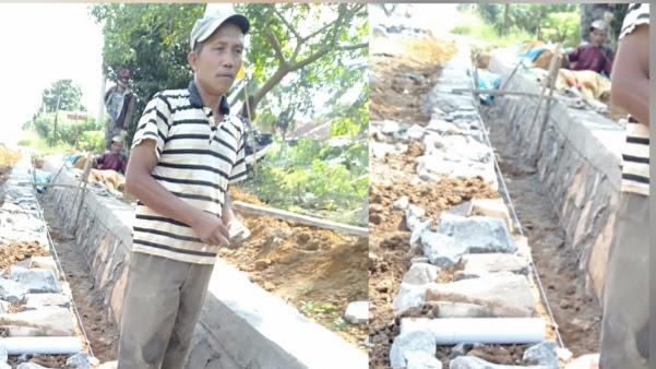 Sejumlah Proyek di Desa Sawojajar Diduga Siluman Dan di Kerjakan Asal Jadi