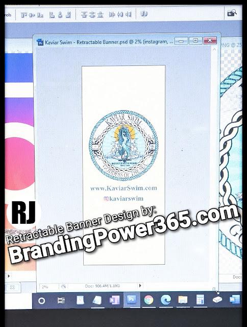 Retractable Banner for Kaviar Swim in Miami Florida (BrandingPower365.com)