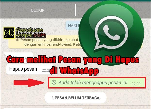 Cara melihat pesan yang di hapus di WhatsApp