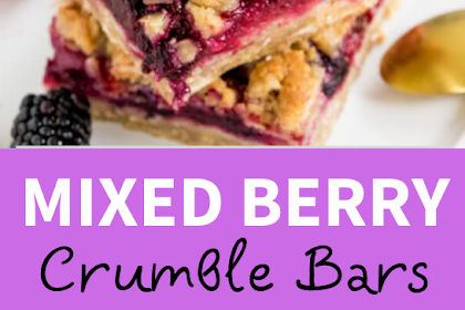 Mixed #Berry #Crumble #Bars