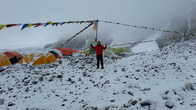 K2 base camp trekker