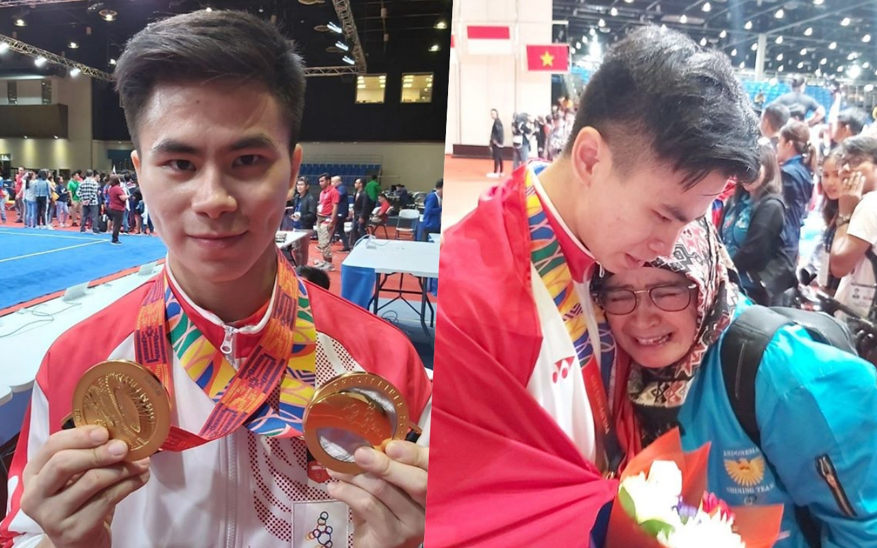 Indonesian athlete's father passes away as he wins 2 golds in SEA Games