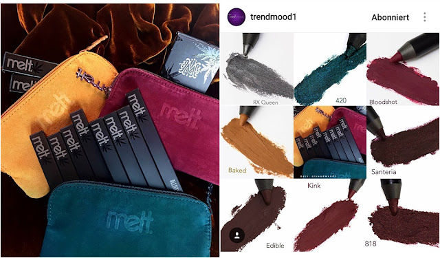 melt cosmetics neue lipsticks, eyeshadows, Liner
