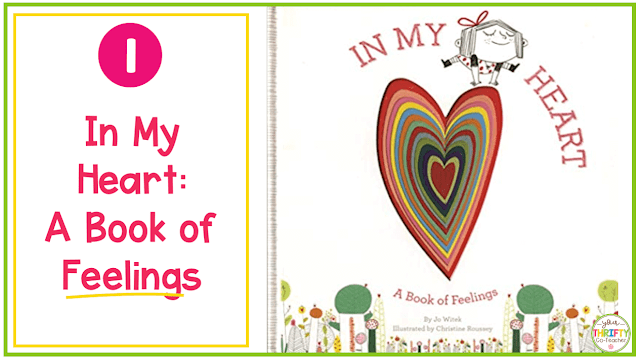 Valentine's Day Books you can share with your upper elementary students? In My Heart: A Book of Feelings a great option that thrives in showing what emotions look and feel like.