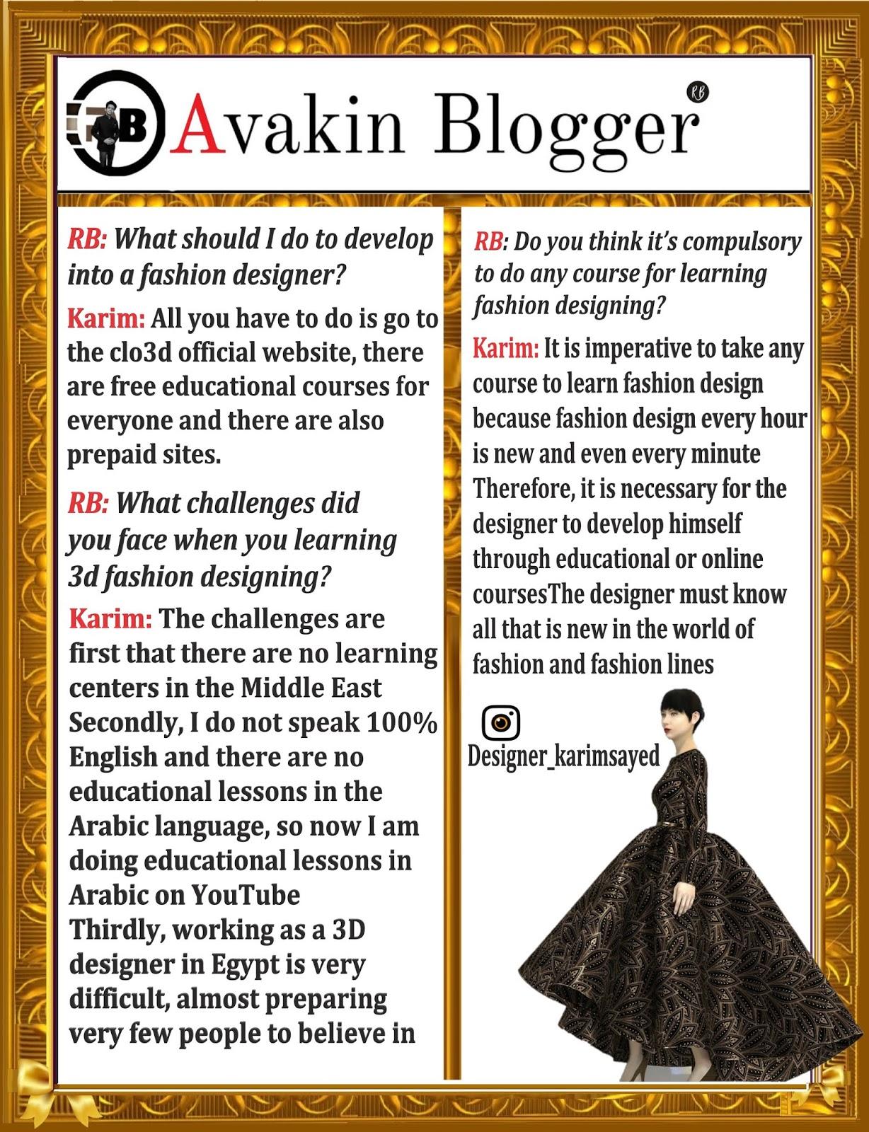 3d Fashion Designer Karim Sayed Egypt Illustrator