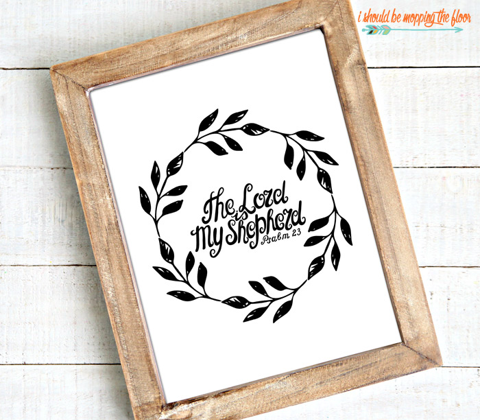 The Lord is My Shepherd Printable