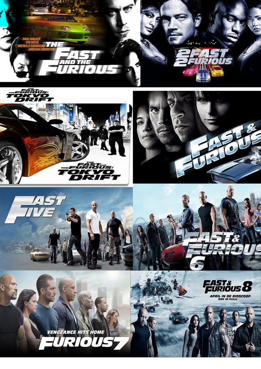 سلسلة افلام السرعة والغضب The Fast and The Furious