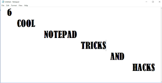 6 cool notepad tricks and hacks.