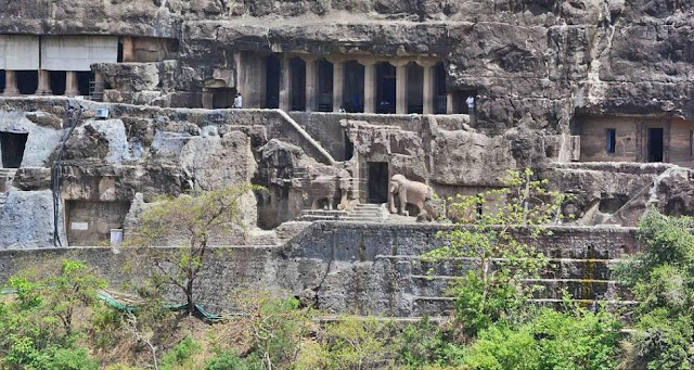 Entrance of Ajanta cave 16 - A guide for Ajanta caves