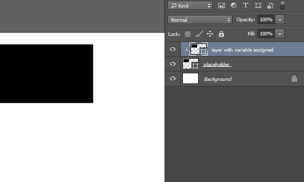 Clip layer with variable to placeholder layer below