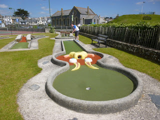 Crazy Golf course at Bude Haven Recreation Ground in Cornwall