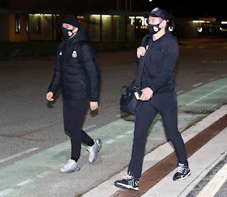 Llegada del Real Madrid a Pamplona