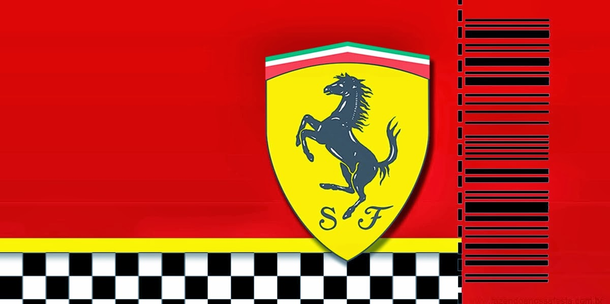 Cars Invitation Card Template Free: Ferrari: Free Printable Cards Or Invitations.