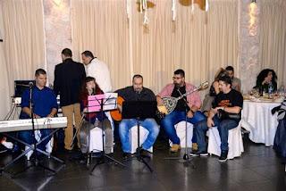 Η ορχήστρα στο 6ο Δείπνο στο σκοτάδι στην Αθήνα